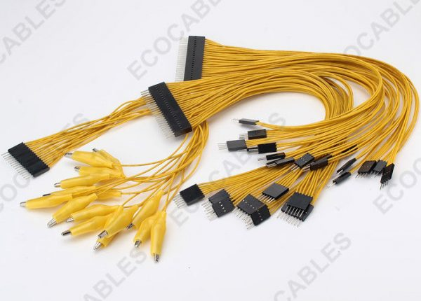 3A Yellow Alligator Clip Battery Cable