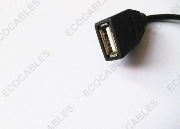 Black A Female Vertical Connector Moulded Electric Wire 2