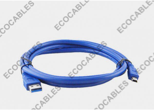 Blue Mini USB Extension Cable