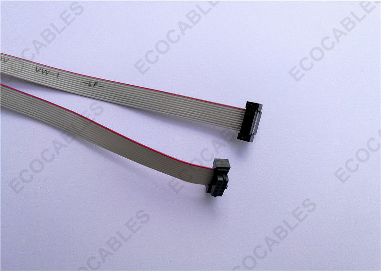 36cm Long 10 Wire Flat Ribbon Cable 1mm Pitch With Molex 87568-1074 ...